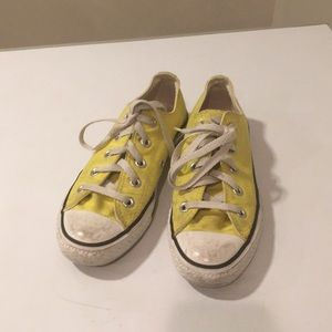 Used Converse All Star sneakers yellow Sz 6 Women'